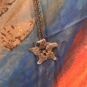 "EUC Lane Bryant Starfish gold tone necklace 32"""